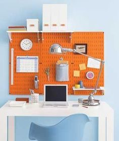pegboard for office organizing