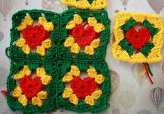 How to make a crochet heart granny square - Mollie Makes