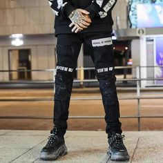 Rowal Ripped Jeans Urban Looks, North Beach, Jeans Material, Hypebeast, Ripped Jeans, Street Wear, Punk, Slim, Street Style