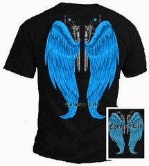 Country Life Outfitters Blue Wings Guns Vintage Unisex Black Bright T | SimplyCuteTees