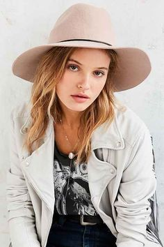 Tie-Back Wide Brim Hat - Urban Outfitters