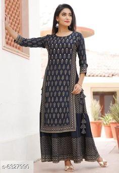 Kurtis & Kurtas Women's Printed Rayon Slub Kurti Fabric: Rayon Slub Sleeve Length: Three-Quarter Sleeves Pattern: Printed Description : Double-Layered Kurtis Multipack: Pack of 1 Sizes: XL (Bust Size: 42 in Length Size: 52 in)  L (Bust Size: 40 in Length Size: 52 in)  XXL (Bust Size: 44 in Length Size: 52 in)  M (Bust Size: 38 in Length Size: 52 in) Country of Origin: India Sizes Available: XS, S, M, L, XL, XXL, XXXL, 4XL, 5XL   Catalog Rating: ★4.3 (32934)  Catalog Name: Attractive Women's Double Layered Kurti CatalogID_1005914 C74-SC1001 Code: 275-6327990-5151