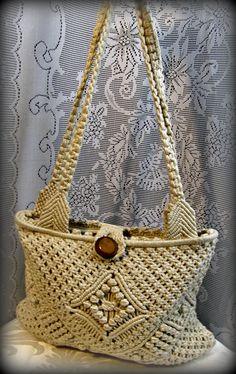 a589aed856a Macrame purse White purse Hippie bag Boho by 1999orbelowboutique Macrame  Purse