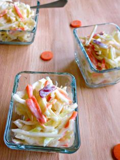This Coleslaw is decadently rich and creamy with just the right amount ...