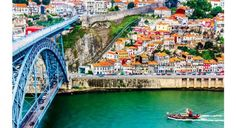 Discover Architecture, Art and Ambience in Porto | via Global Traveler Magazine 15.03.2013 | Whether you arrive by air at Porto's modern Francisco Sá Carneiro Airport or at Campanhã Station on the three-hour, high-speed Alfa Pendular train from Lisbon, the relatively new Metro Line E is the best way into the city. The violet line opened in 2006, and its fast and stylish trains are a good introduction to Porto, where 13th- and 14th-century buildings coexist...
