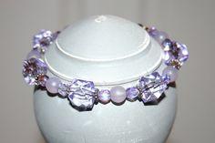 Lavender Vintage Bead Bracelet by RedRadishStudio on Etsy, $18.99 Lavender, Beaded Bracelets, Buttons, Jewellery, Beads, Studio, Handmade, Etsy, Wedding