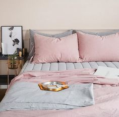 Immy and Indi | Interior Inspiration - Blush + Grey Linen