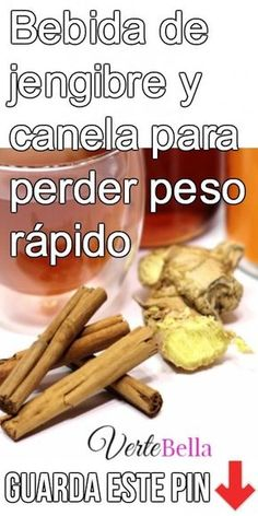 Bebida de jengibre y canela para perder peso rápido Ginger and cinnamon drink to lose weight fast Ginger and cinnamon drink to lose weight fastDo you want to lose weight fast, but for somegreen smoothie detox to lose weight fast Cinnamon Drink, Ginger And Cinnamon, Detox To Lose Weight, How To Lose Weight Fast, Healthy Drinks, Healthy Tips, Nutrition, Food And Drink, Health Fitness