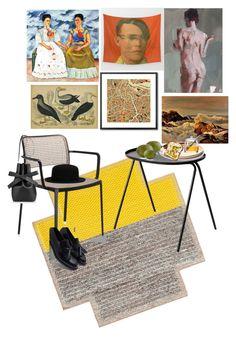 """Untitled #49"" by iphigeniabythesea on Polyvore featuring interior, interiors, interior design, home, home decor, interior decorating, Gandía Blasco, Monde Mosaic, Kartell and Menu"