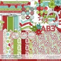 Merry and Bright Scrapbooking Kit