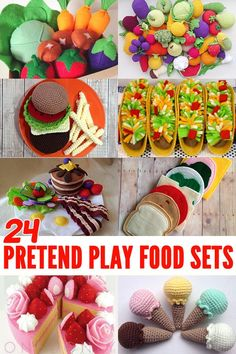 24 Fabulous Pretend Play Food Sets for toddlers and preschoolers