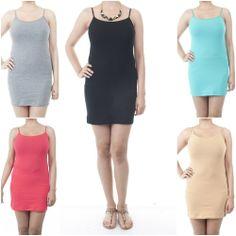 ebclo- Simple Basic Spaghetti Strap Mini Bodycon Dress Lightweight New $9.00 Free Domestic Shipping