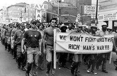 Vietnam veterans protesting the war, 1970.