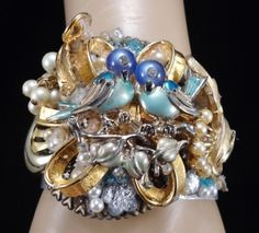 Blue Birds of Happiness Altered Bracelet  by InVintageHeaven, $65.00
