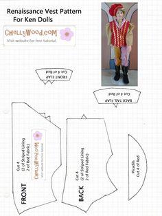 Vest Pattern for Ken Doll printable free