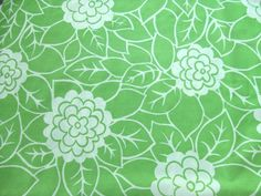 Vintage Green and White Pillowcase by LinensandThings on Etsy, $10.00
