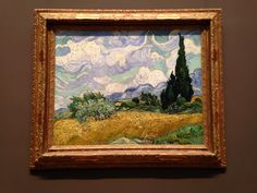 Vincent Van Gogh - Wheatfield with Cypresses at the Haute Galline: Actual painting in The Metropolitan Museum of Art, NY.