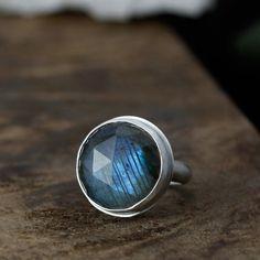 Ginormous, beautiful labradorite cocktail ring. $180
