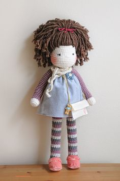 Crochet Doll over 2 feet tall Ready to Ship by LinaMarieDolls