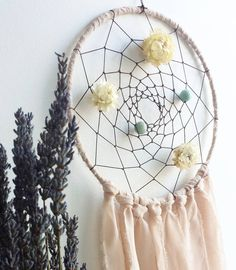 boho handmade wall hanging nursery decor 👌 #greenbloomdesign #etsyshop #etsyresolution #artisan #dreamcatcher #crafty #making #ceramics #crystals #healing #amazonite