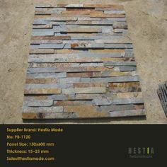 Hestia gemaakt exporteur multicolour roestige leisteen culturele steen voor wanddecoratie