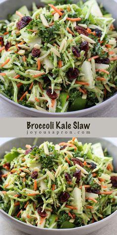 Broccoli Kale Slaw - easy and yummy holiday side!
