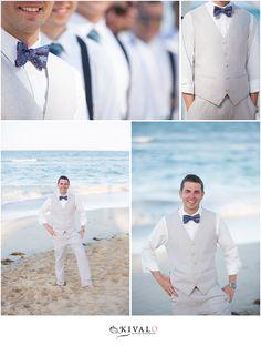groomsmen in linen suits