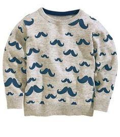 NEXT Mustache Print sweater so cute!