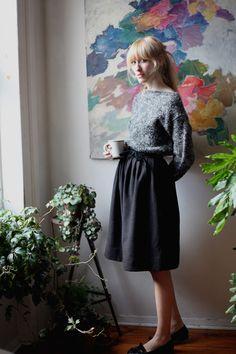 I love a gathered skirt