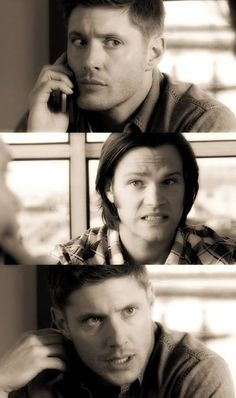 7x19 Of Grave Importance.....Sam: You know she and Bobby had a thing, right?  Dean: Yeah, I knew that.....Really? Sam: Yeah, kind of a foxhole thing. Very Hemingway. Dean: Huh. She and I kinda went Hemingway this one time too. Sam: Alright...well, that happens... Dean: Wait, you too? Sam: It was a while back. We ended up on the same case. She was stressed and I ...didn't have a soul. Dean: That's a lot of foxholes.