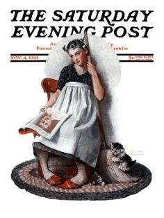 """""""Daydreams"""" """"Cinderella"""" Saturday Evening Post Cover, November 4,1922 Giclee Print by Norman Rockwell at Art.com"""