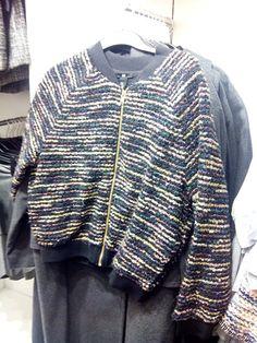 Tejer cazadora. todas las lanas #mixedyarm #negro+todos los colores . black and all colors . knit all materials