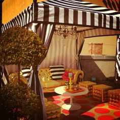 """""""Thanks Z Gallerie! Your cabanas look amaze at Petco Park Events!"""" - Stephanie Grace"""