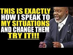 How to Speak to Your Situation and Circumstances TD Jakes // This is one of the best messages that explicitly teaches why you need to Speak To Your Situation. Td Jakes, Motivational Messages, I Can, Give It To Me, Faith, Teaching, God, Youtube, Ears