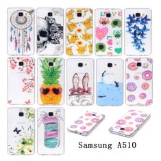 Newest Luxury Silicone Painting TPU Cell Phone Case Cover For Samsung Galaxy A510 Cases for A5 2016 A510F Silicone Phone Bags