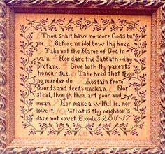 counted cross stitch pattern : commandments l the 10 commandments