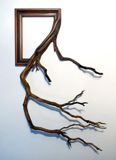 """Guy Fuses Twisted Tree Branches With Vintage Picture Frames To Make Them Look Alive You've probably never picture frames quite like these before. Talented artist Darryl Cox creates mythical lo""""}, """"http_status"""": window. Vintage Frames, Antique Frames, Wooden Frames, Vintage Wood, Antique Picture Frames, Antique Pictures, Cool Picture Frames, Tree Branch Decor, Tree Branches"""