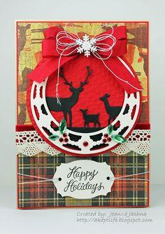 Jeanne Jachna: A Kept Life – 12 Kits of Christmas November Edition - 11/29/12. (Memory Box: Lorelai Leaf, Deer Trio).