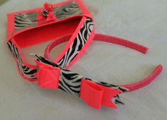 Duck tape bow headband and a purse #pink n zebra print