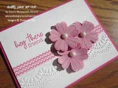 Emboss resist technique using stampin up flower shop stamp set ...