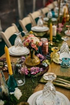 This wedding's table decor is straight out of a fairy tale   Image by Max & Sam Photography