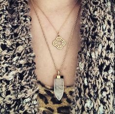 Layer it on with your very own Clover Alphabet Charm Necklace and Aria Pendant by Stella & Dot.