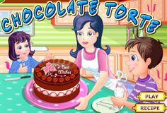 Chocolate Torte is rich multi layer, filled with butter cream or whatever you want it to filled with and assemble to make this tasty chocolate torte in this Free Online Cooking Game. Chocolate Torte, Dessert Chocolate, Cake Games, Cooking Games, Play Food, Cake Recipes, Spain, Tasty, Desserts