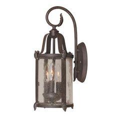 World Imports Lanterne Murale Extérieure à 3 Lampes Au Fini Bronze De La Collection Old