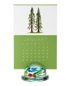 I bought a few of these for Christmas gifts. So sweet in person. :: Tree 2014 Calendar & Glass Stand
