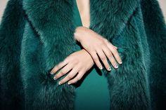 Square nail art // Christian Louboutin Beauté at Cushnie et Ochs Fall 2015