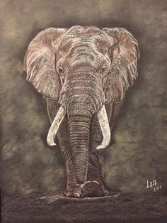 Elephant de arteyayiloren en Etsy, láminas decorativas, ilustraciones, ilustration, pencil drawings, lápices de colores