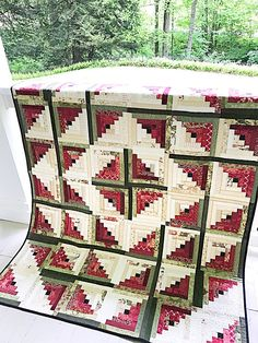 Quilt Patterns PDF Log Cabin Quilt Pattern Beginner Quilts Pattern Summer Quilt Christmas Quilt Pattern Scrappy Quilt Pattern Sewing Pattern
