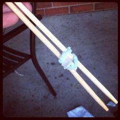 "Homemade training chopsticks ""urban boyscout"""