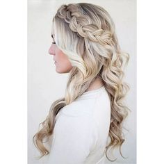 50 Cute Braided Hairstyles for Long Hair ❤ liked on Polyvore featuring accessories, hair accessories and long hair accessories